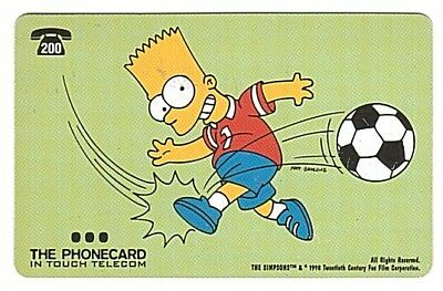 Belgium - In Touch Telecom - The Simpsons Carte 254 - 200 BEF - Used/Usagée