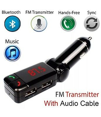 Bluetooth transmitter for any car. phone connector for any car. FM transmitter,