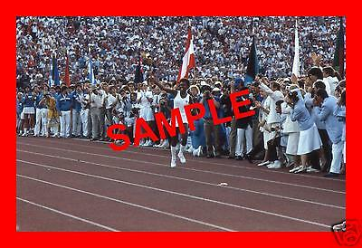 Original 1984 Press Transparency - Olympic Games Opening Ceremony Gina Hemphill