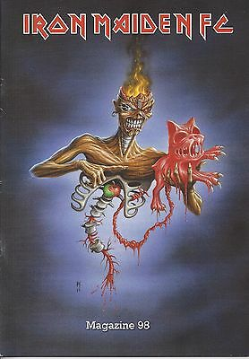 Iron Maiden Official Fan Club Magazine 98 A4 Size New , Pages 40 Excelent Cond