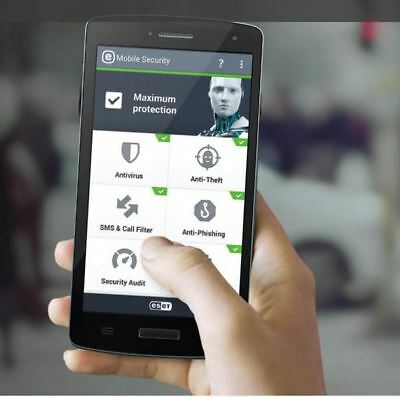 ESET Mobile Security for Android 1/3/5 Devices - 1 Year -License in eBay Message