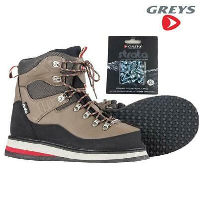 Greys Strata Ctx Rubber Sole Wading Boots & Studs Choose Size