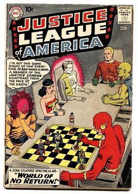 Justice League of America #1 Wonder Woman - Aquaman -comic book DC Silver-Age