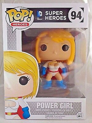 POWER GIRL 94 Funko POP DC Super Heroes vinyl figure New In Package HARD TO FIND