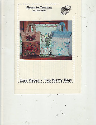Two Pretty Bags Sewing Pattern Easy Pieces to Treasure Jenelle Kent Australia
