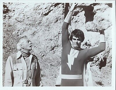 Shazam! 8x10 Black & white tv publicity photos - Lot of 2 different