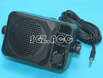 NEW! Mini EXTERNAL SPEAKER For Two Way Police Scanner Ham Mobile CB Radio-3.5mm