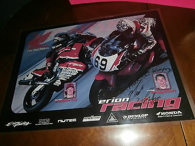 Nicky Hayden Signed Autograph Poster Pottstown Pa Frank Kiss Honda Motorcycle