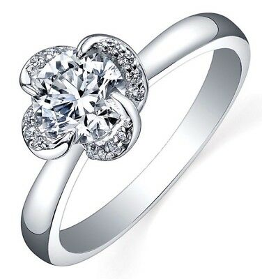 1903bd91220be MAPLE LEAF DIAMOND 18ct Engagement Ring White Gold Band Sl1 Diamond ...