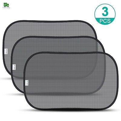 Car Side Window Black Sunshade UV Protection for Baby Extra Large 3 Pack