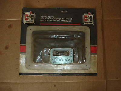 Nos Vintage Hurst V-Gate 2 Shifter Boot Plate And Hardware 1141653 Ramrod