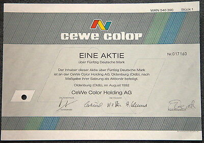 Lot 100  X CeWe Color Holding AG 1992 50 DM