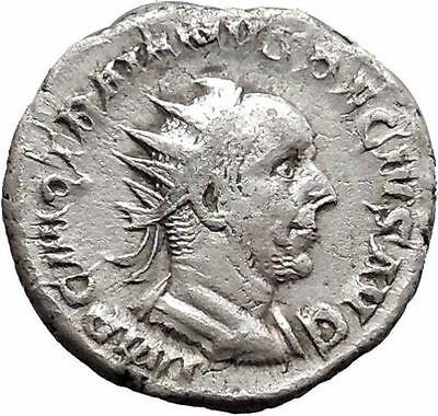 TRAJAN DECIUS 250AD Silver Ancient  Roman Coin Genius Cult Protection  i48133