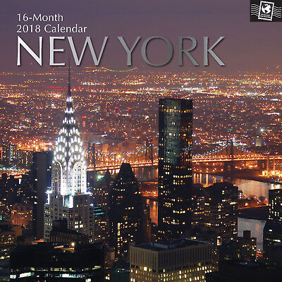 New York ~ 16 Month  2018 Square Wall Calendar