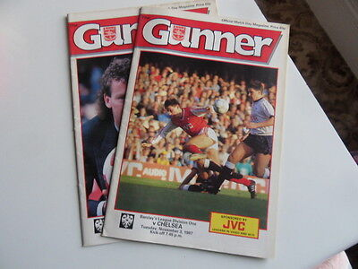 Arsenal Programmes 1987/88