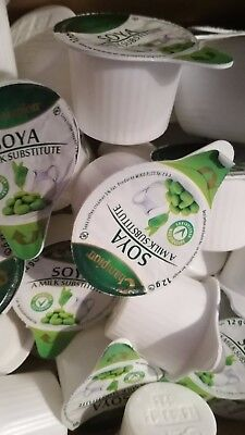 20 x Champion Soya Milk Substitute Small 12g Portion Pots - Ideal for Holiday