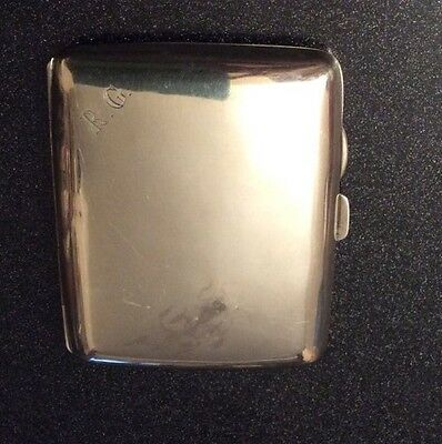 Vintage 1918 Solid Silver Cigarette Case By A.J Pepper & Co Birmingham