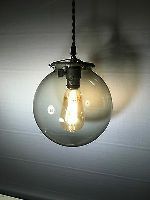 Reclaimed Vintage Industrial Light Antique Round Glass