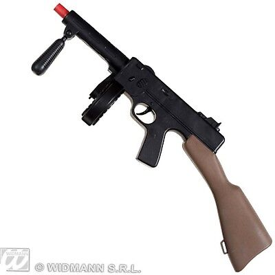 """New Tommy Toy Gun 19.5"""" Plastic Thompson Machine Gangster Costume Accessory"""