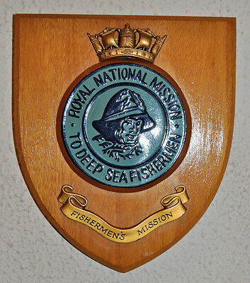 Royal National Mission to Deep Sea Fishermen plaque shield crest Fishermen's