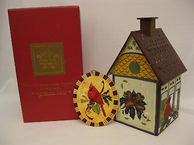 Lenox Winter Greetings Toleware Cardinal Birdhouse Votive