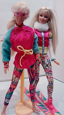 Barbie Dolls Ski Winter Sport Snow Pink Clothing Jacket Outfits Boots Articulate