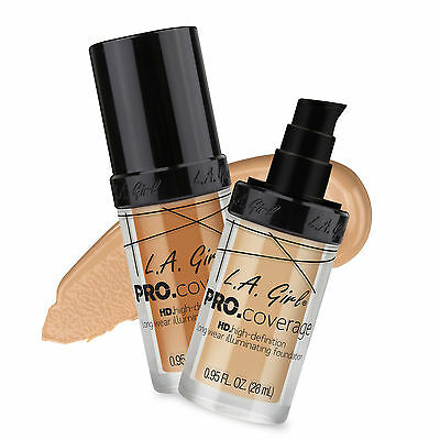 La L.A. GIRL - Pro Coverage HD Long Wear Illuminating Foundation - ALL SHADES