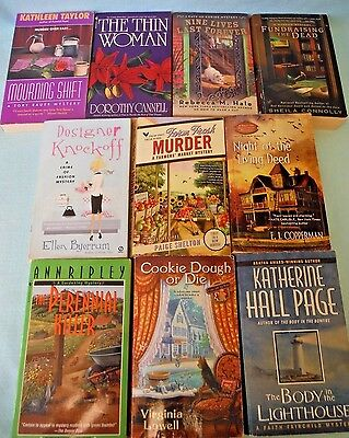 Lot of 10 Paperback Cozy Mysteries Women Sleuths