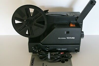 BELL & HOWELL 10MS Super 8/Reg 8 Projector w/ Variable Speed w/Manual