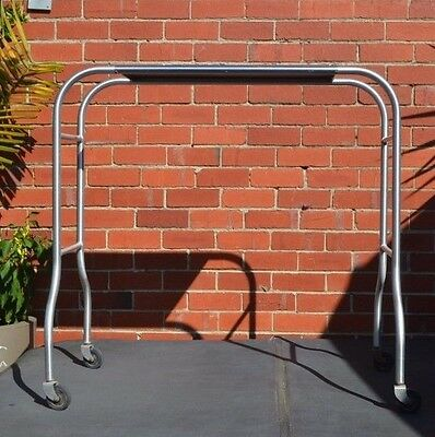 Vintage Industrial  hospital metal  trolley Utilitarian