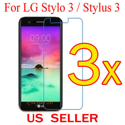 3x Clear LCD Screen Protector Guard Cover Shield Film For LG Stylo 3 / Stylus 3