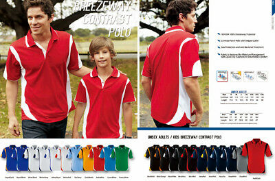 New Kids Boys Girls Quick Dry Contrast Panel Casual Sports Polo Tops Team Wear
