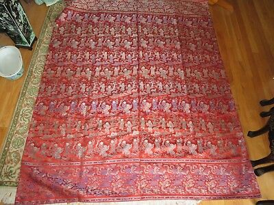 Very Large Chinese Brocade of 100 Children Perfect Condition Great Colors