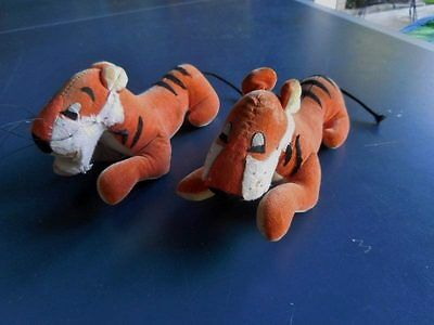 Pair Of Vintage Plush Disney Tigers Shere Khan From Jungle Book