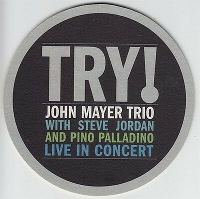 John Mayer Trio Try! Live In Concert RARE promo set of 4 coasters '05