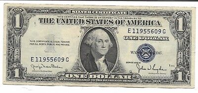 Old Rare Antique US Blue Seal Silver Dollar Bill Certificate Collection Note C6