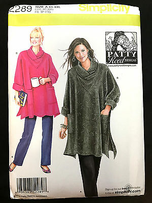 2289 Simplicity Misses PATTY REED Loose Fit Tunic Cowl Pant Knit Pattern UC 6-26