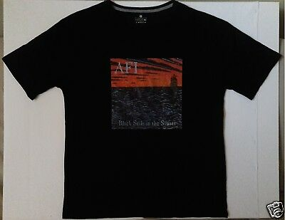 AFI Black Sails In The Sunset Size 2XL Black T-Shirt