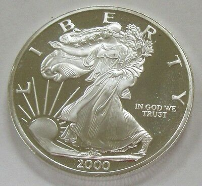 "2000 ""Dawn of a New Millenium""  Unique Collector 1 oz. .999 Silver Art Round"