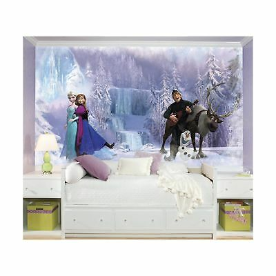 RoomMates Disney Frozen Chair Rail Prepasted Mural 6' x 10.5' - Ultra-... NO TAX