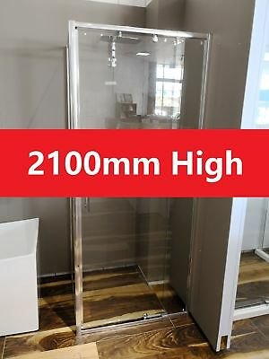 2100mm High Easy Install Wall to Wall Adjustable Shower Screen Front 1020-1100mm