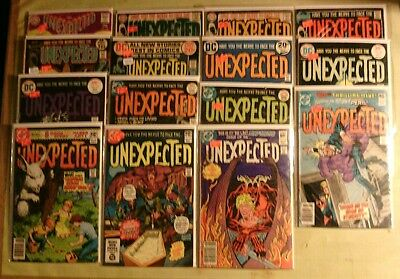 The unexpected comics lot of 15 DC books #106-#222 silver to bronze age