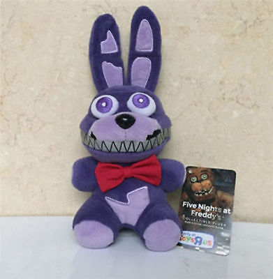 """New Five Nights At Freddy's Nightmare Bonnie Purple 6"""" Plush Toy Doll"""