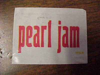 "Pearl Jam 1 1/2"" by 2 1/2 Sticker.VS LP Cover Sticker that was never affixed on."