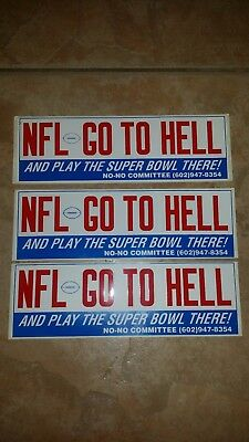 NFL go to Hell  vintage Political bumper sticker