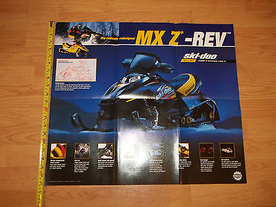 New Condition 2002 Shi-Doo MXZ-Rev Snowmobile Poster Page 24 1/2 x 21 Inch Cat