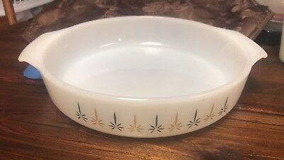 Candle Glow Vintage Anchor Hocking Fire King - 9 in. Casserole #429 Made in USA