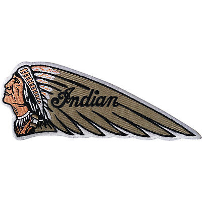 Indian Patch Iron Sew On Embroidered Applique Biker Motorcycle Embroidery Badge
