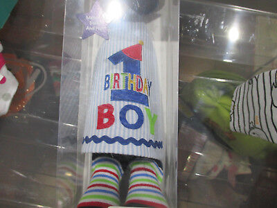 Rising Star Party Hat And Sock Set  Babys First Birthday