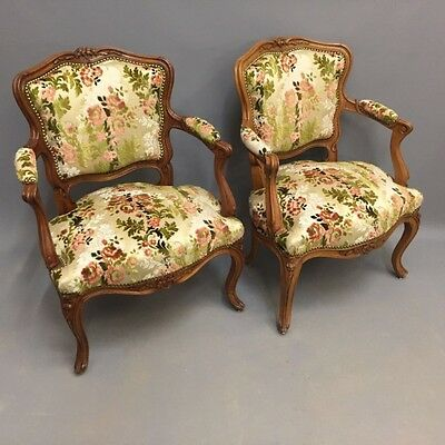 PAIR OF FRENCH OPEN ARMCHAIRS  Ref a14670